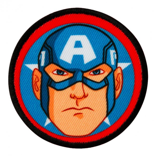 MARVEL Avengers Captain AMERICA Button Patch / Aufnäher